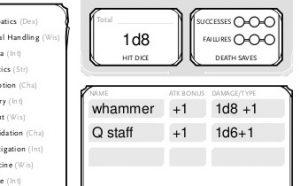 Bjorn's Attack Stats attack bonus and damage bonus
