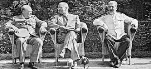 Winston Churchill, Franklin D. Roosevelt, Joseph Stalin
