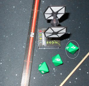 tie fighter dodges one hit
